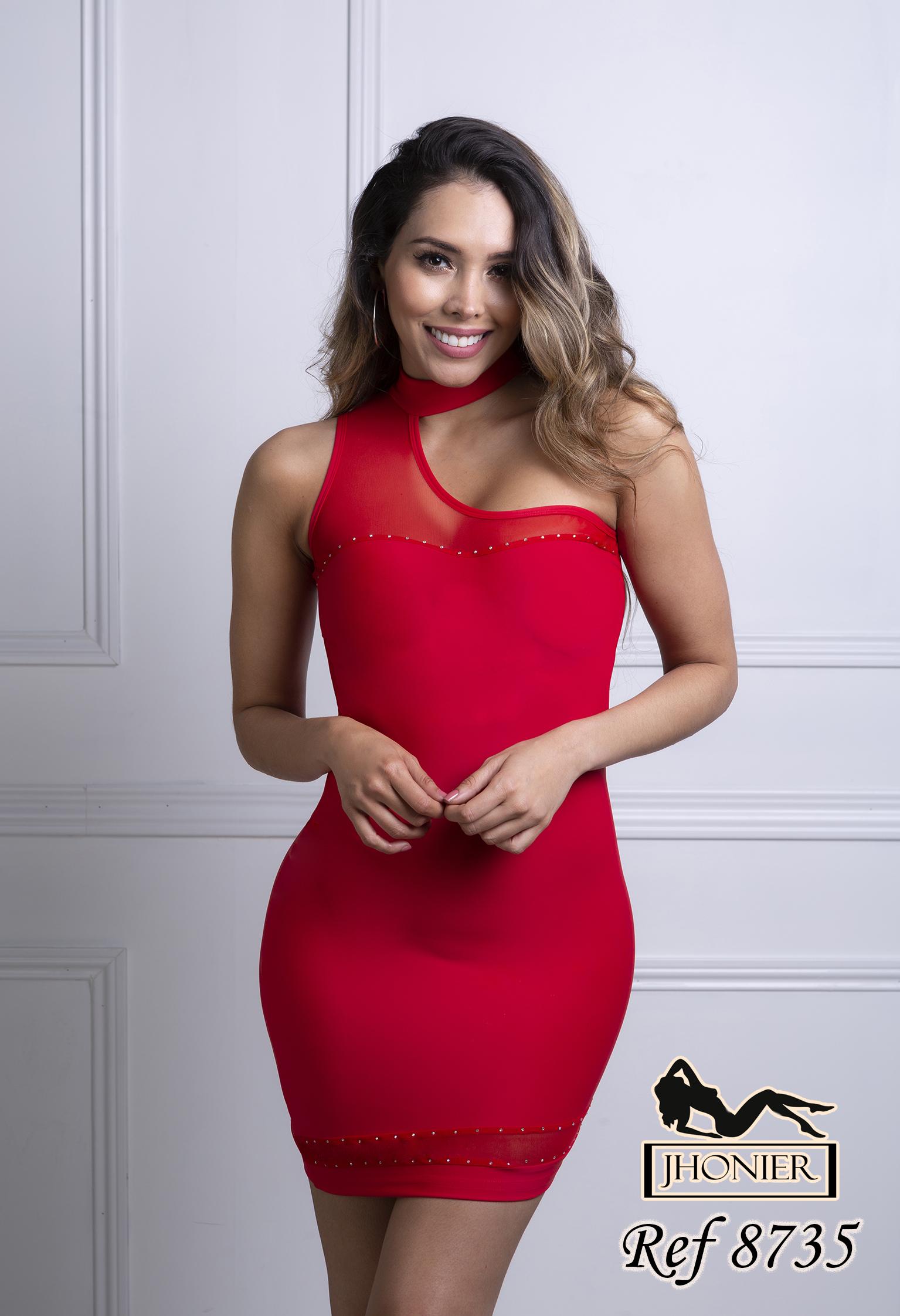 Vestido Corto Colombiano 8735