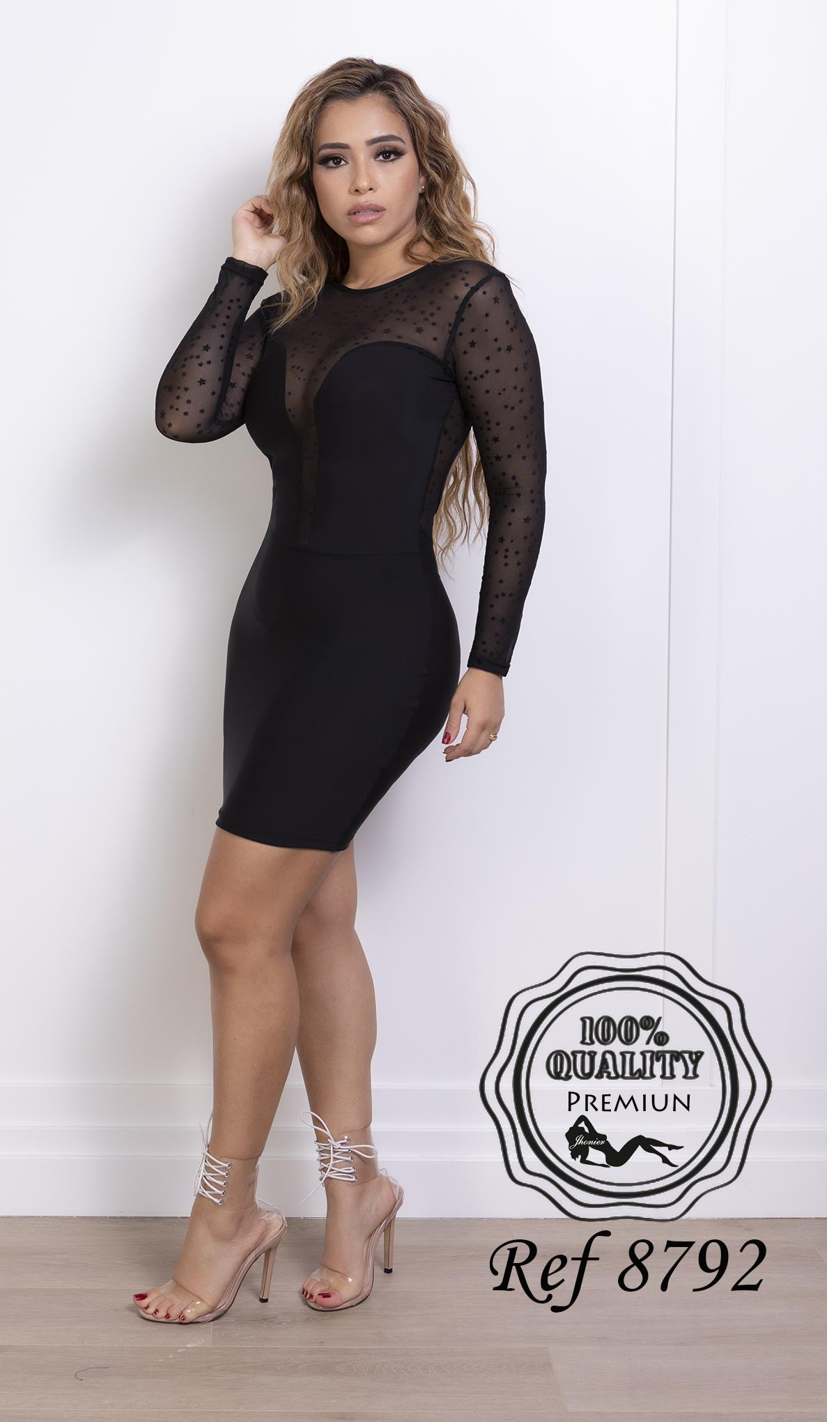 Vestido Corto Colombiano 8792