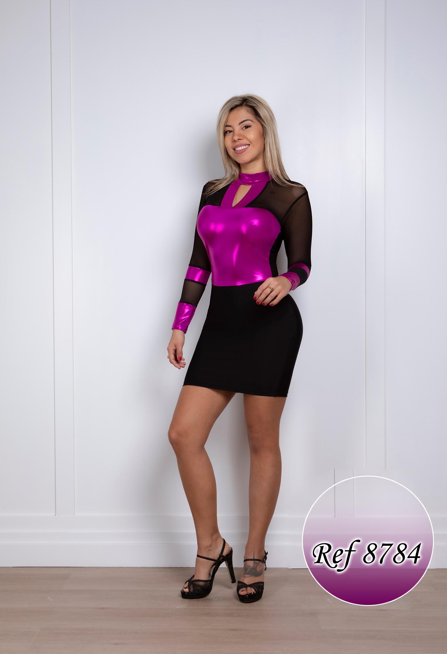 Vestido Corto Colombiano 8784