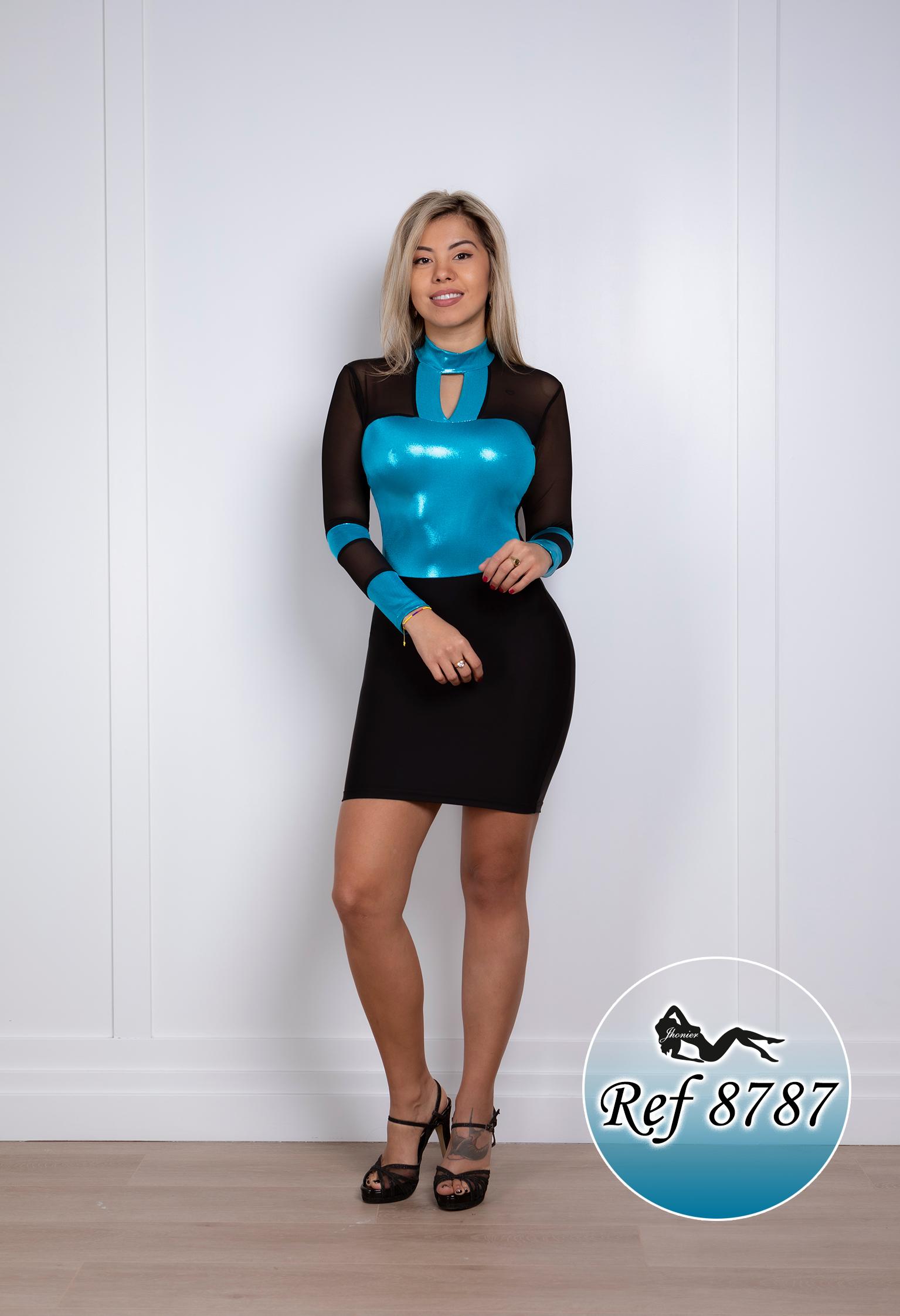Vestido Corto Colombiano 8787