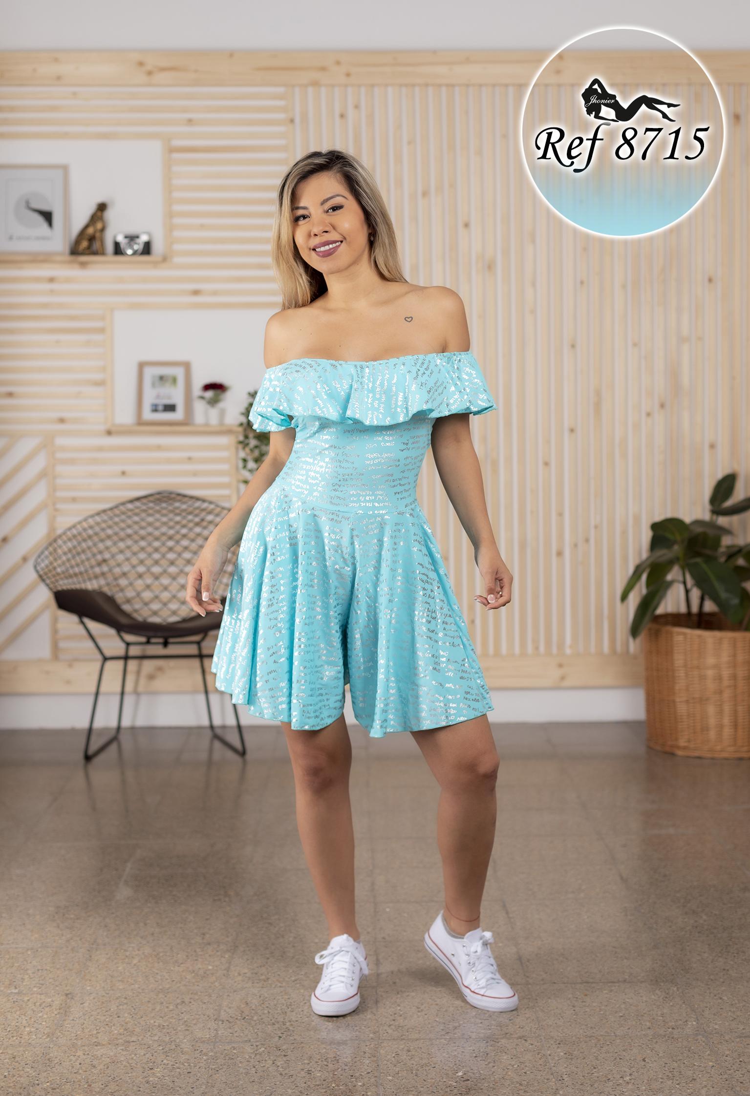 Vestido corto colombiano 8715