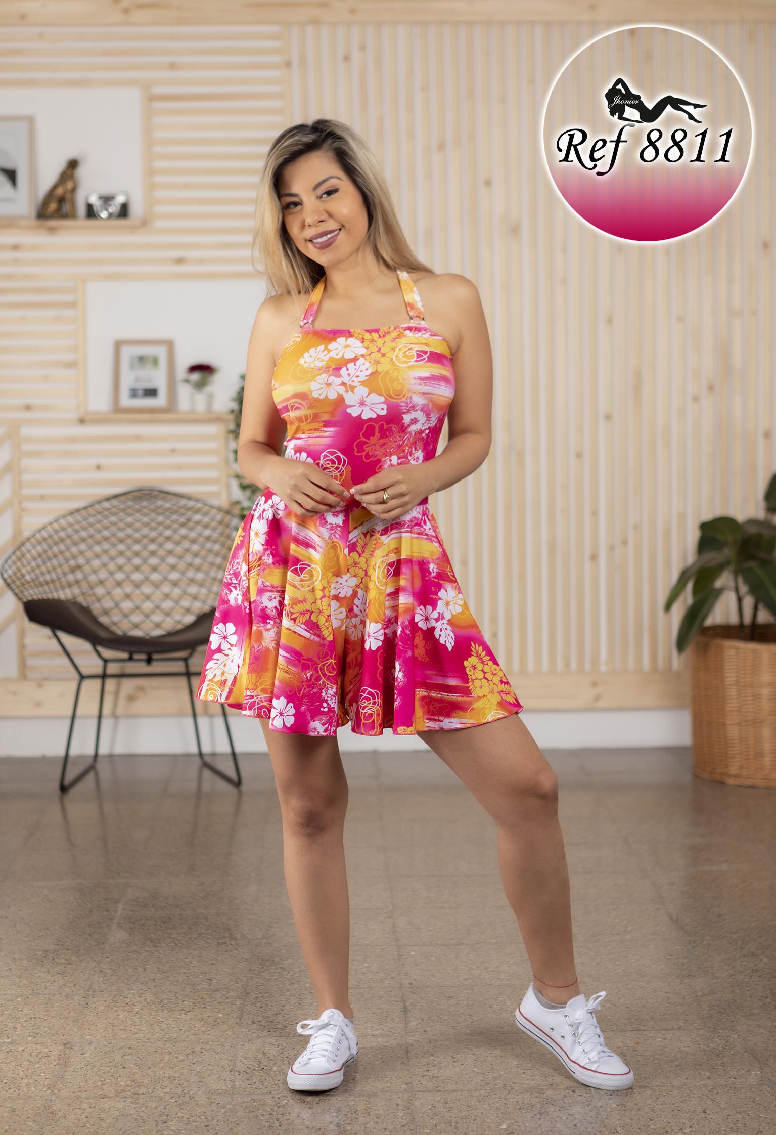 Vestido corto colombiano 8811